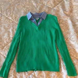 IZOD Sweater with attached shirt collar
